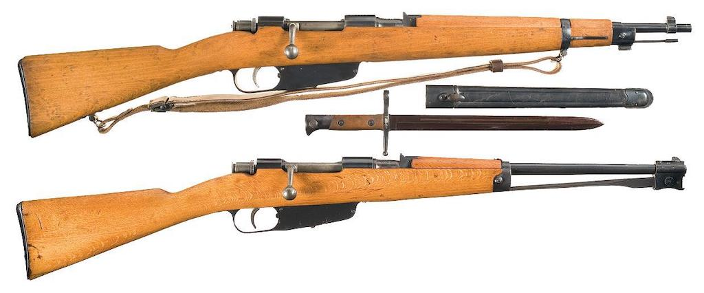 Carcano M91 TS and Carabine version.