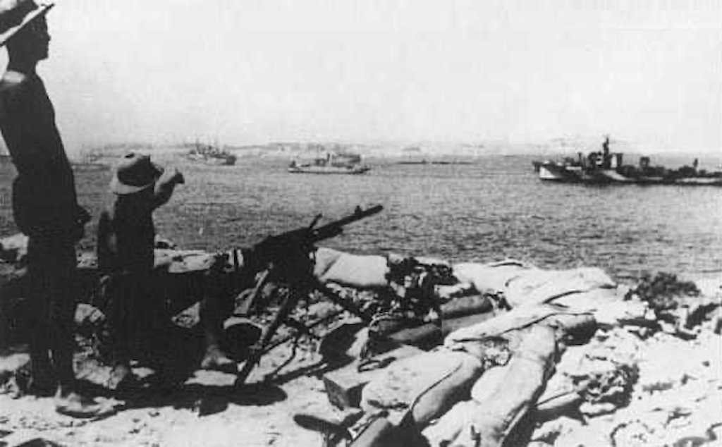 A Tobruk defensive position during Operation Agreement.