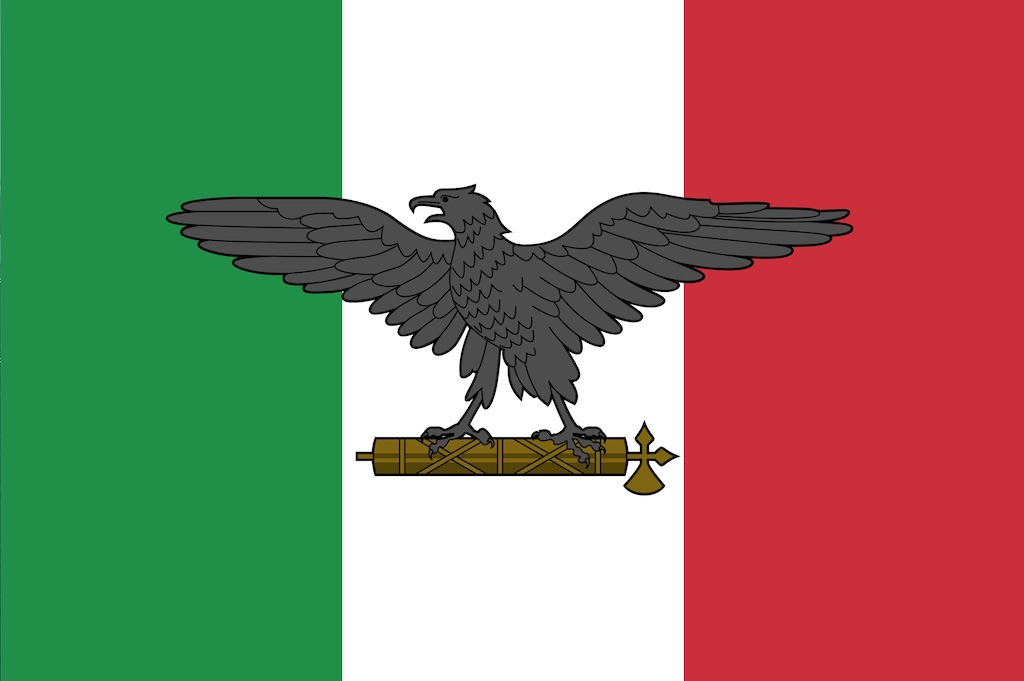 Italian Social Republic flag used by its armed forces during war.