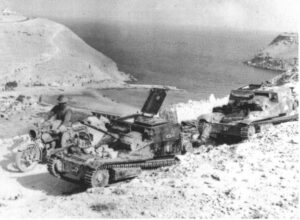 Disabled L3 tankettes in Bardia
