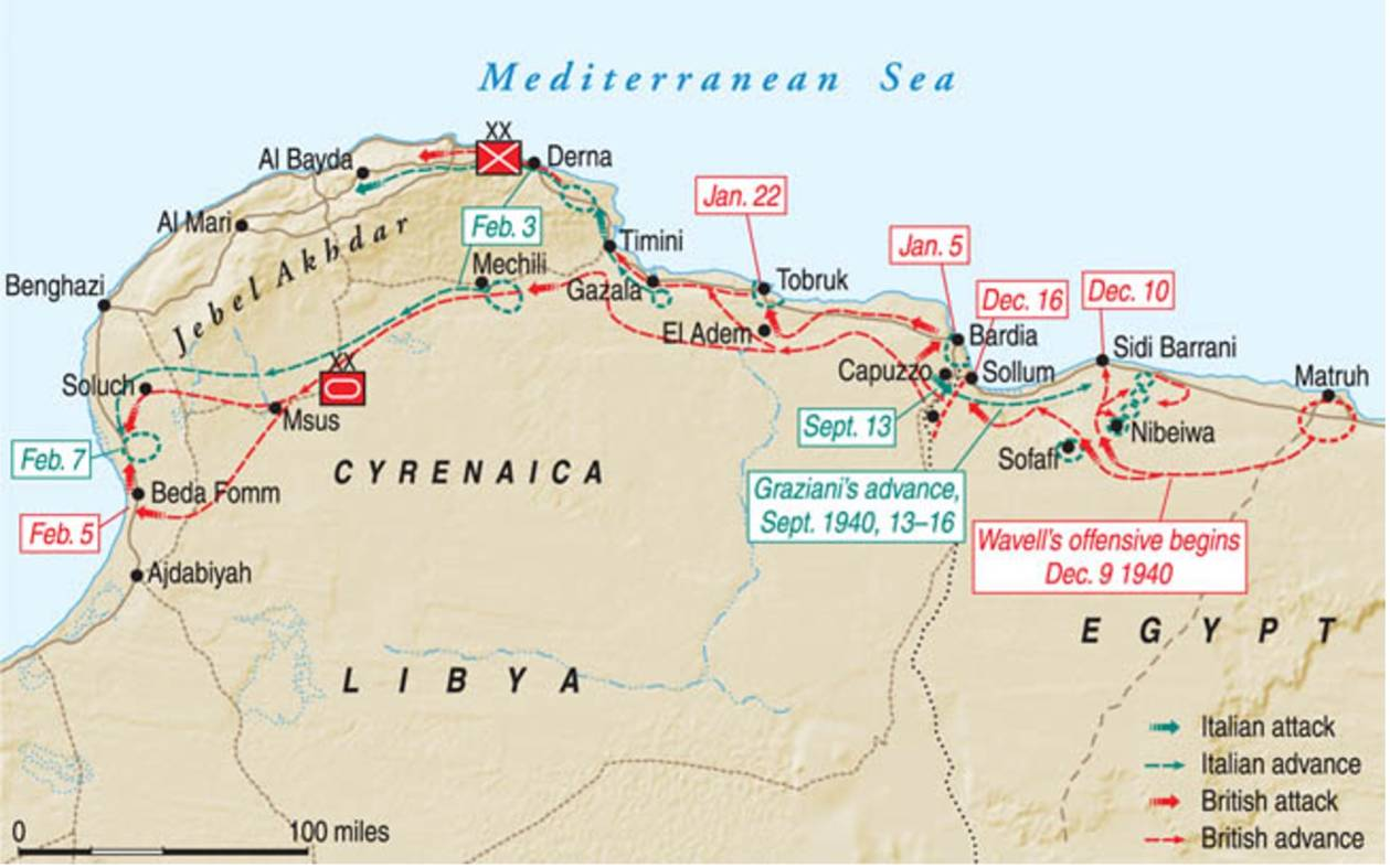 Overview of the whole campaign December 1940-February 1941